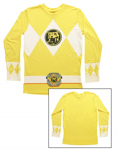 Yellow Power Rangers Long Sleeve Costume Shirt