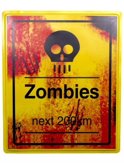 Zombies Next 200 KM Sign