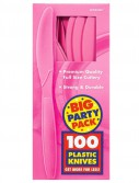 Bright Pink Big Party Pack - Knives (100 count)