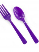 Purple Forks and Spoons (8 each)
