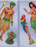 5' Hula Girl Polynesian Guy Wall Add-Ons