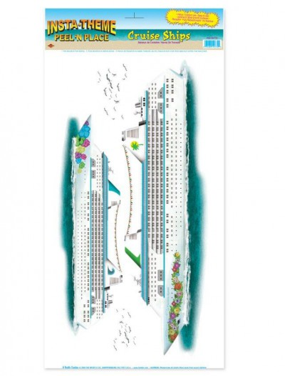 Cruise Ships Peel 'N Place Wall Decorations