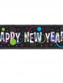 5' New Year's Giant Metallic Banner