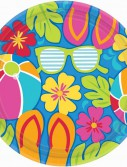 Summer Splash Luau Banquet Dinner Plates