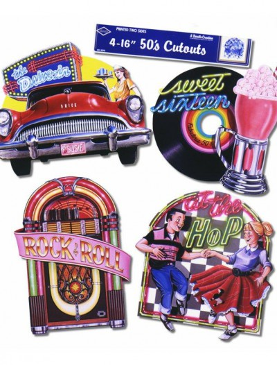 Sock Hop Fabulous 50's Cutouts (4 count)