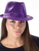 Mardi Gras - Purple Sequin Fedora