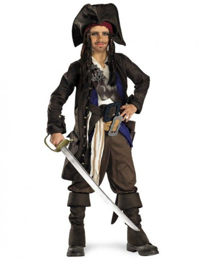 Pirates of the Caribbean - Captain Jack Sparrow Prestige Pre-Teen Costume