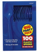 Bright Royal Blue Big Party Pack - Spoons (100 count)