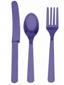 New Purple Forks  Knives Spoons (8 each)