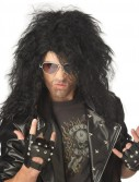 Heavy Metal Rocker Black Adult Wig