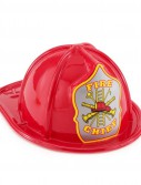 Child Size Red Plastic Fire Chief Hat