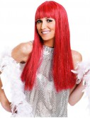 Glitzy Glamour Red Wig Adult