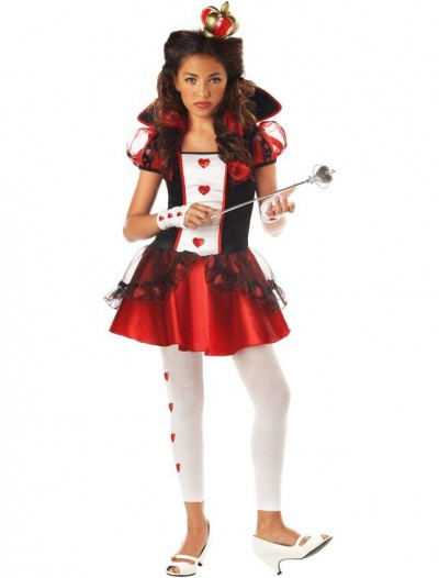 Wonderlands Queen of Hearts Tween Costume
