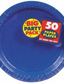 Bright Royal Blue Big Party Pack - Dessert Plates (50 count)