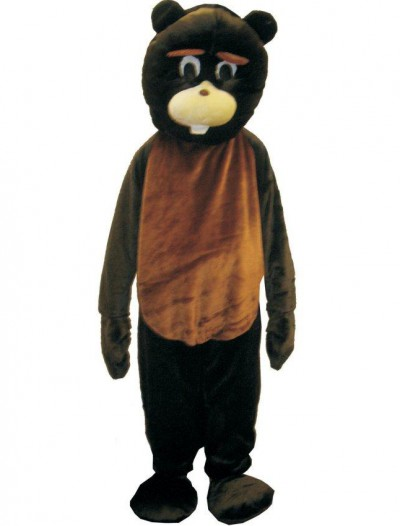 Adult Beaver Mascot Costume Set