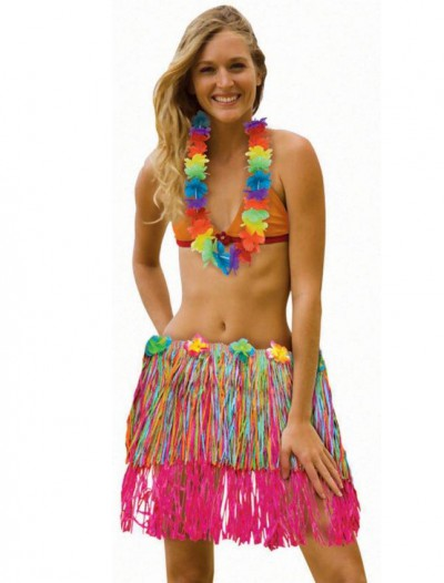 Adult Rainbow Hula Skirt