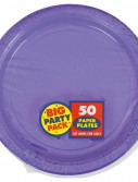New Purple Big Party Pack - Dessert Plates (50 count)