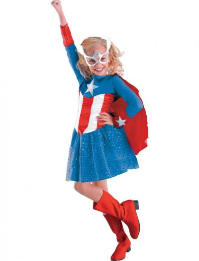 Captain America Girl Classic Toddler / Child Costume