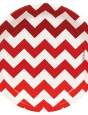Chevron Red Dessert Plates (8 count)