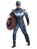 Captain America The Winter Soldier - Captain America Muscle Chest Plus Size Costume
