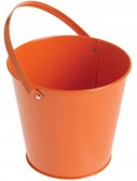 Metal Bucket - Orange