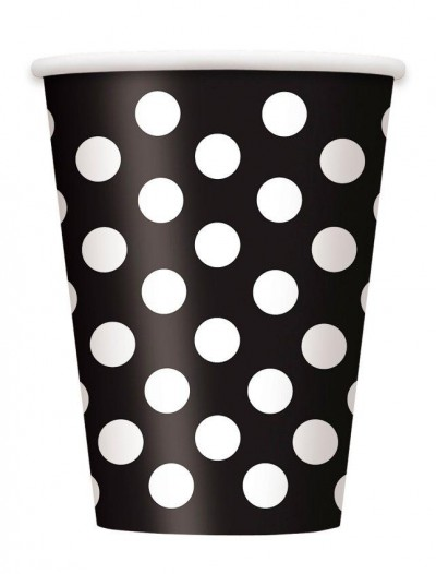 Black and White Dots Cups (8)