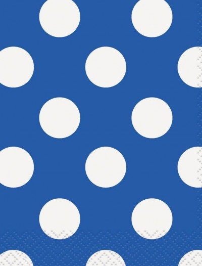 Blue and White Dots Beverage Napkins (16)