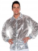 Silver Sequin Adult Plus Shirt