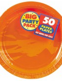 Orange Peel Big Party Pack - Dessert Plates (50 count)