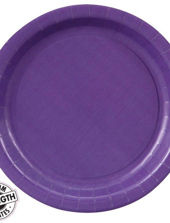 Perfect Purple (Purple) Paper Dessert Plates (24 count)