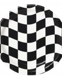 Black and White Check Dessert Plates (8 count)