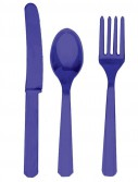 Purple Forks  Knives Spoons (8 each)