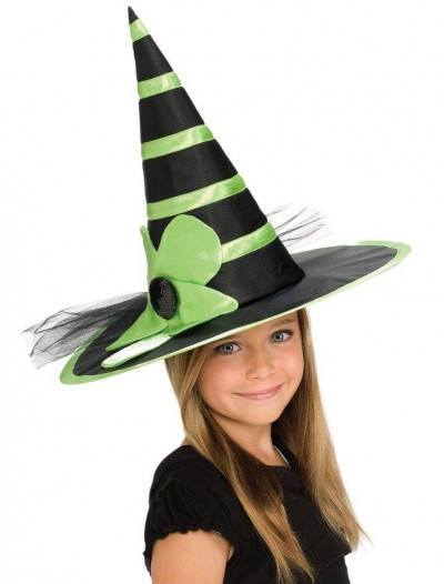 Child Green Witch Hat
