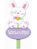 Welcome Bunny Lawn Sign