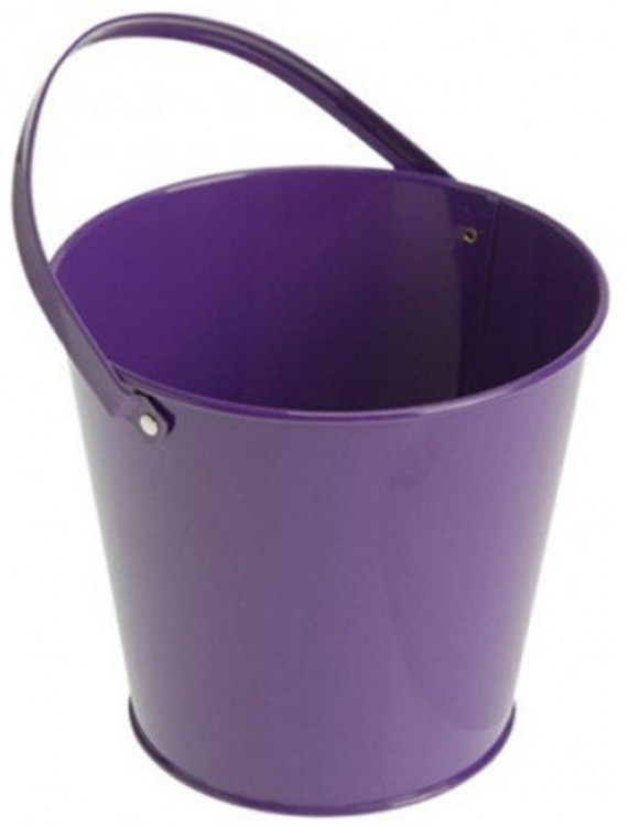 Metal Bucket - Purple