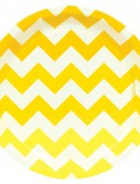 Chevron Yellow Dinner Plates (8 count)