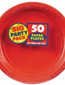 Apple Red Big Party Pack - Dinner Plates (50 count)