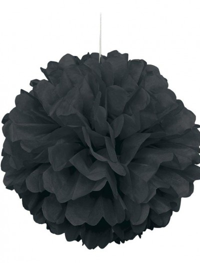 Black Hanging Puff Ball
