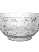 8 Quart Embossed Clear Punch Bowl