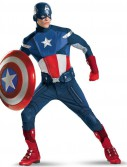 The Avengers Captain America Elite Adult Plus Costume