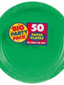 Festive Green Big Party Pack - Dinner Plates (50 count)