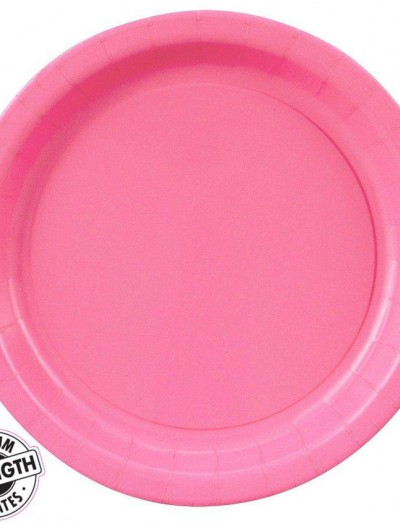 Candy Pink (Hot Pink) Dinner Plates (24 count)