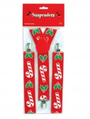 Candy Cane Holly Suspenders