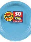 Caribbean Blue Big Party Pack - Dinner Plates (50 count)