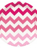 Chevron Pink Dinner Plates (8 count)