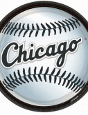 Chicago White Sox Baseball - Round Dinner Plates (18 count)