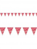 Red and White Dot Flag Banner
