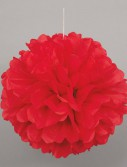Red Hanging Puff Ball