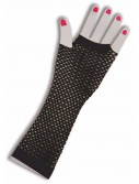 80's Black Long Fishnet Adult Gloves
