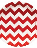 Chevron Red Dinner Plates (8 count)